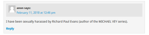 Richard Paul Evans accusation 1