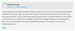 Tim Federle accusation 1